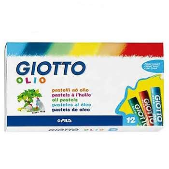 پاستل روغنی 12 رنگ جیوتو مدل Olio