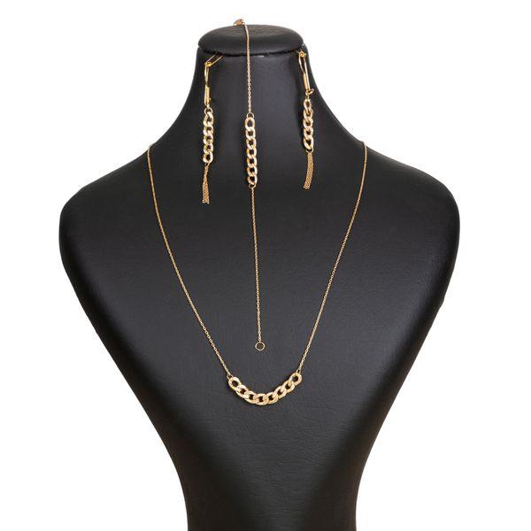 نیم ست طلا 18 عیار زنانه گالری یارطلا کد NS13