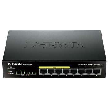 سوییچ 8 پورت گیگابیتی و غیر مدیریتی دی-لینک مدل DGS-1008P | D-Link DGS-1008P 8-Port Gigabit PoE Unmanaged Switch