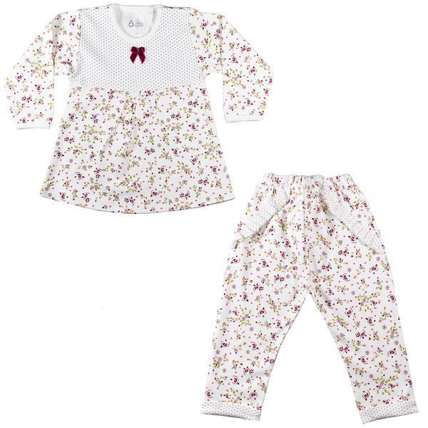 ست تی شرت و شلوار نوزادی نیروان مدل فرشته کد 1