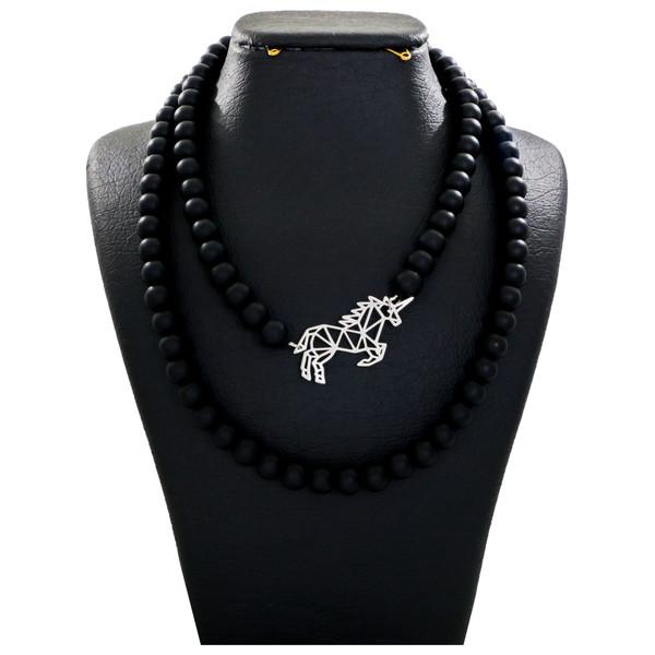 گردنبند نقره زنانه دلی جم طرح اسب تک شاخ کد D 120