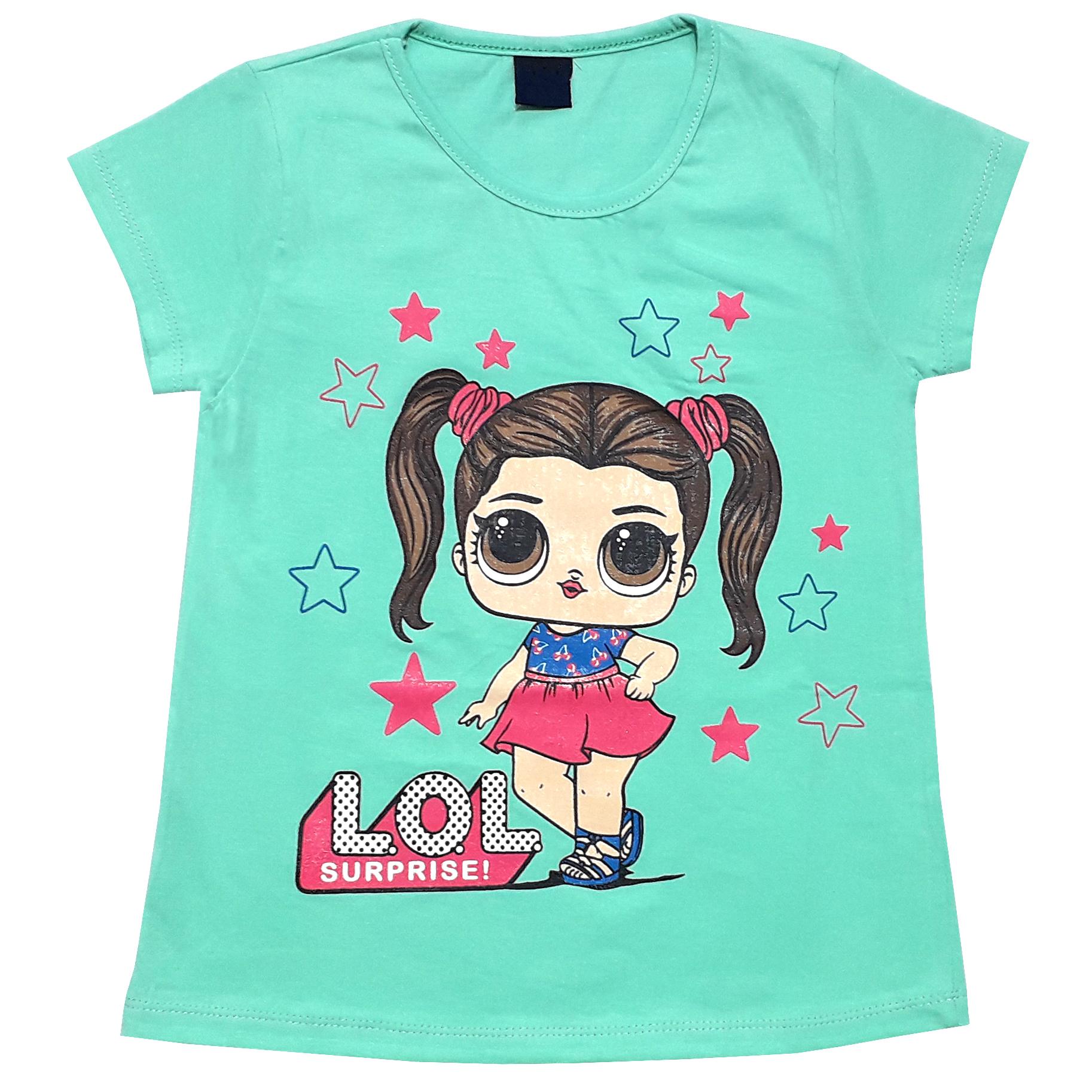 ست تی شرت و شلوارک دخترانه طرح LOL کد 1404 -  - 3