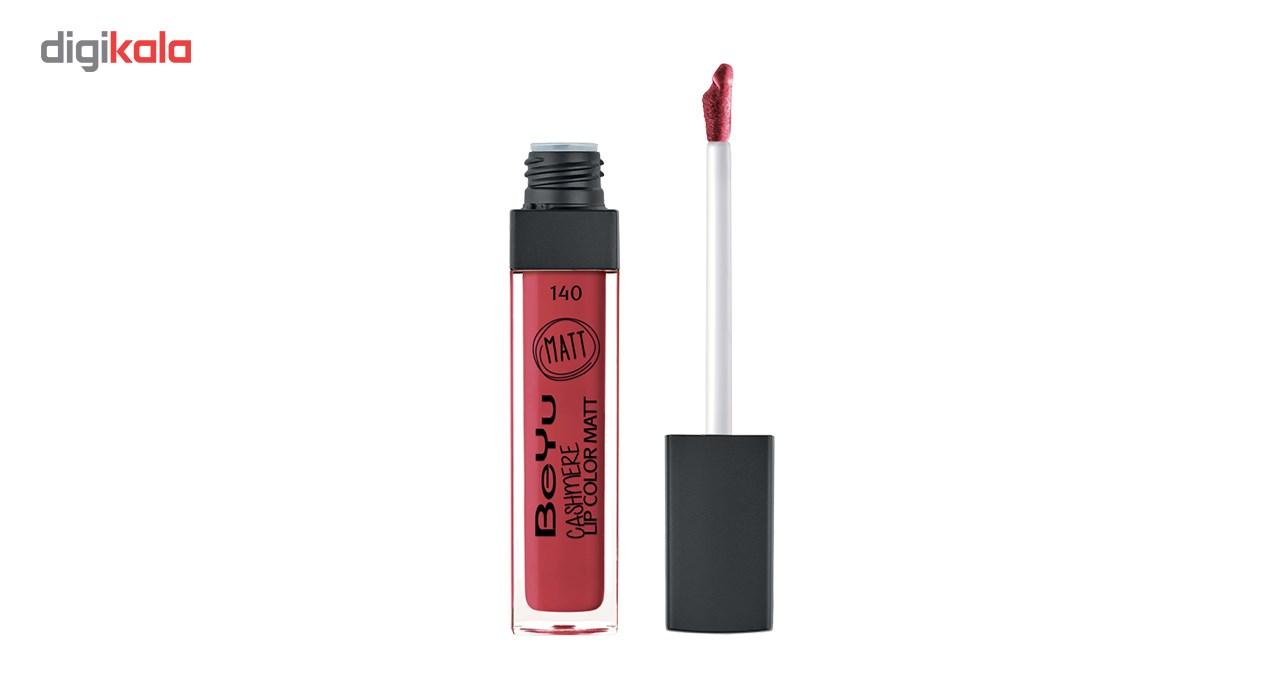 رژ لب مایع بی یو سری Cashmere Lip Color Matt شماره 140 -  - 2