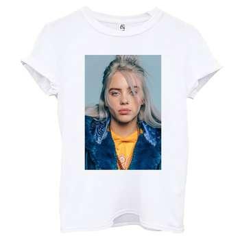 تی شرت آستین کوتاه زنانه اسد طرح بیلی آیلیش کد 132