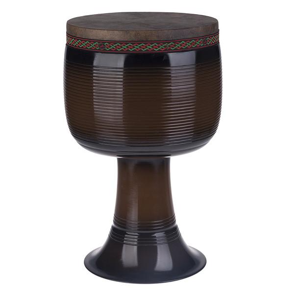 تنبک حلمی مدل فایبر قهوهای سوخته با پوست شتر سایز 26