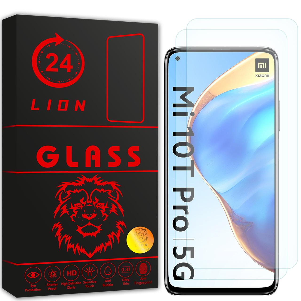 محافظ صفحه نمایش لاین مدل RB007 مناسب برای گوشی موبایل شیائومی Mi 10T Pro 5G بسته دو عددی