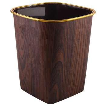 سطل زباله طرح چوب