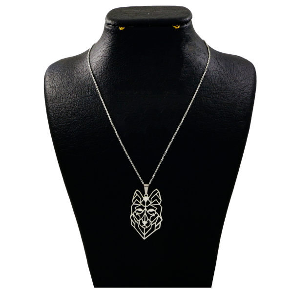 گردنبند نقره زنانه دلی جم طرح گرگ کد D140