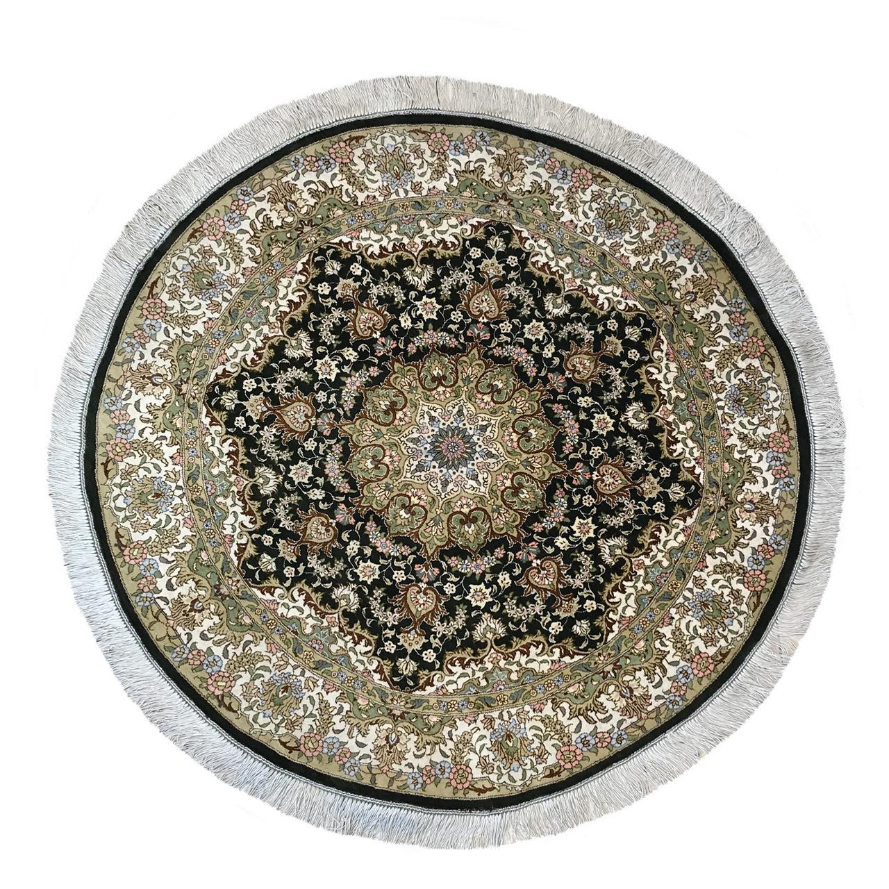 فرش دستبافت یک متری طرح ترنجی کد YM.222