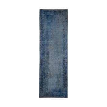 فرش دستبافت رنگ شده کناره طول سه متری کد 1353