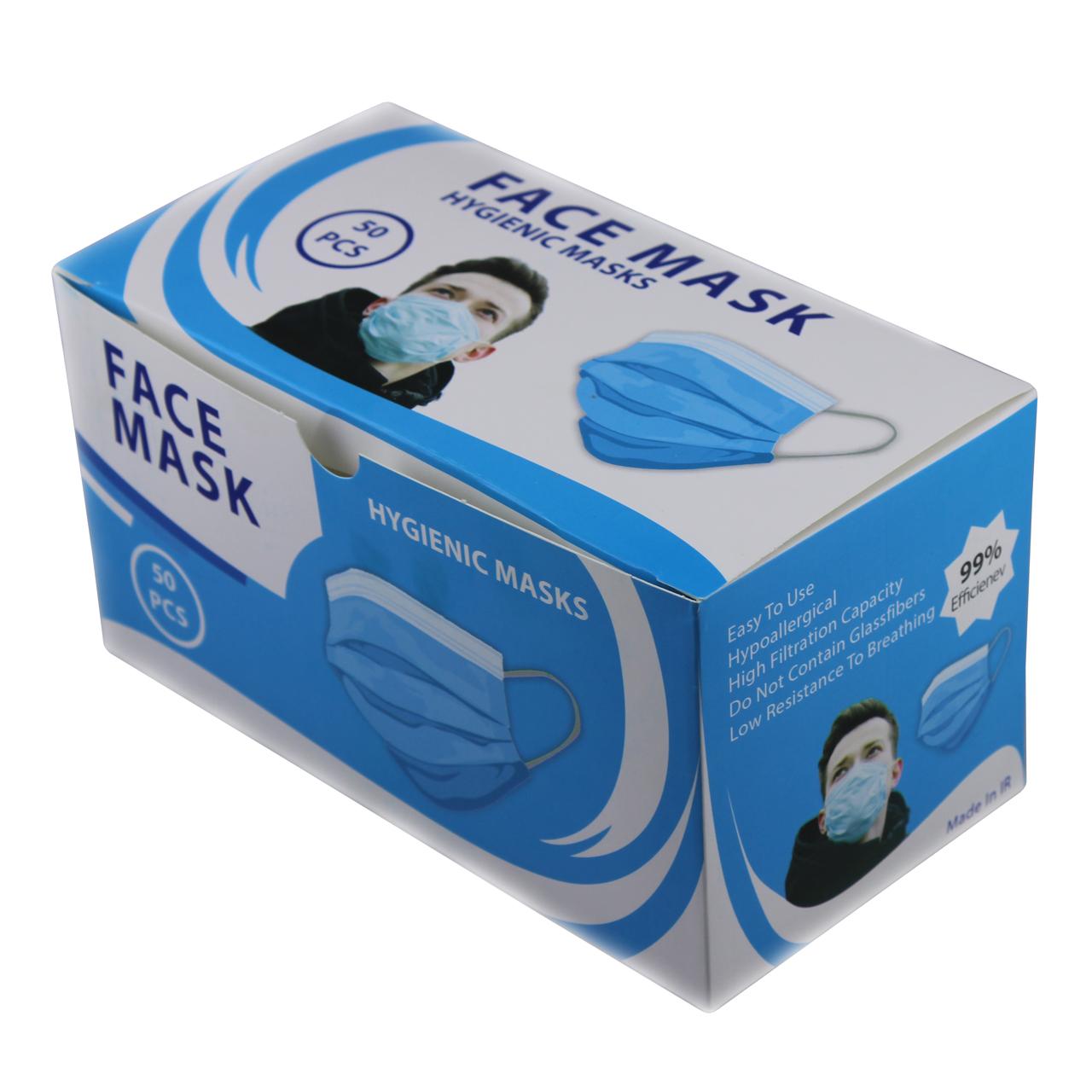 ماسک تنفسی مدل ملت بلون بسته ۵۰ عددی