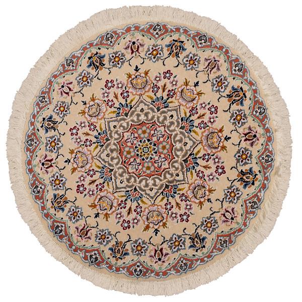 فرش دستبافت نیم متری مدل دایره کد 991059