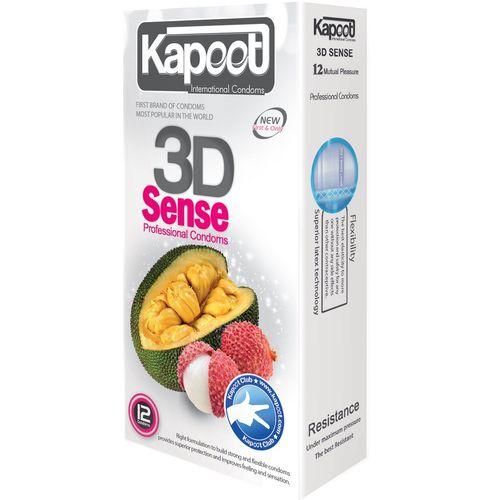 کاندوم خاردار کاپوت مدل 3D Sense بسته 12 عددی