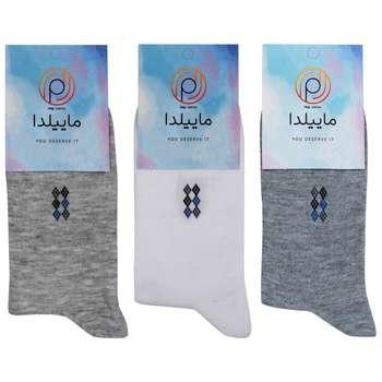 جوراب مردانه ماییلدا کد 3416-140-1 مجموعه 3 عددی