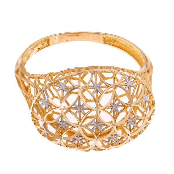 انگشتر طلا 18 عیار زنانه گالری یارطلا مدل فیوژن کد ANF03