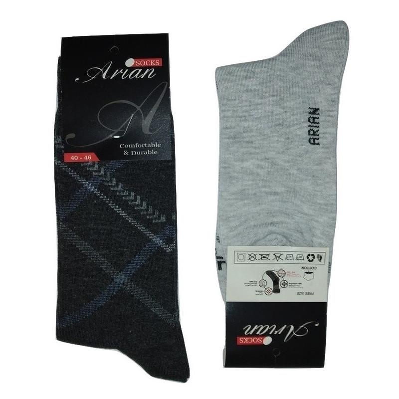 جوراب مردانه آرین مدل ۸ مجموعه ۱۲ عددی