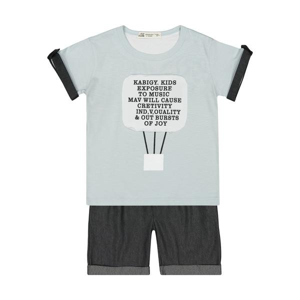 ست تی شرت و شلوارک پسرانه نونا مدل 2211249-90
