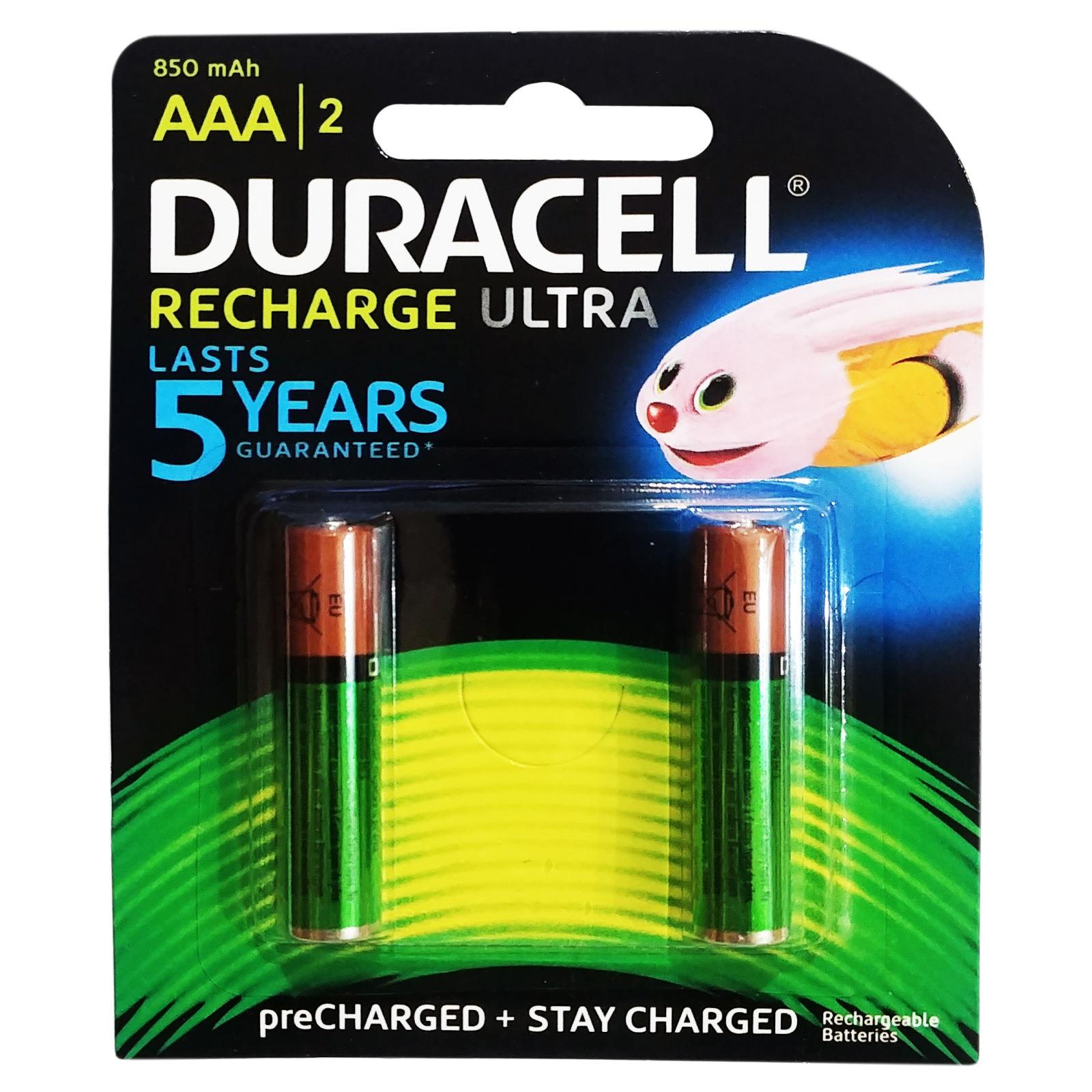 باتری  نیم قلمی قابل شارژ دوراسل مدل D-04 بسته دو عددی