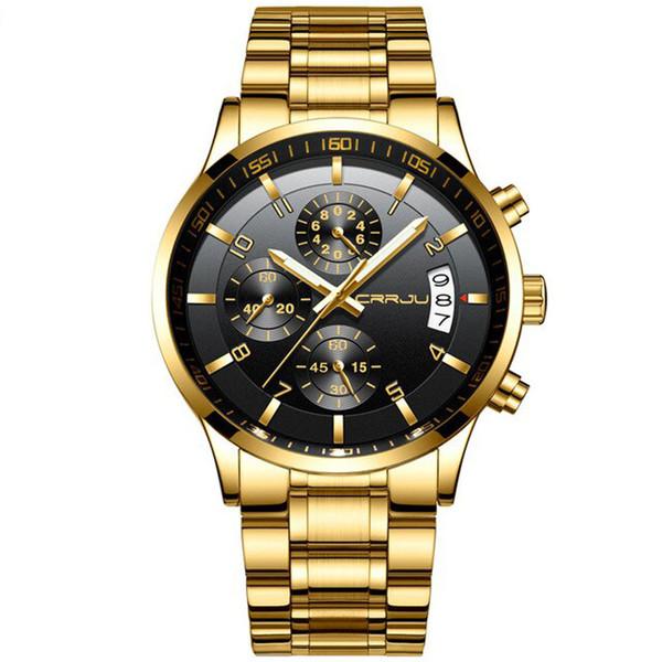 ساعت مچی عقربهای مردانه سی آر آر جی یو مدل gold2214