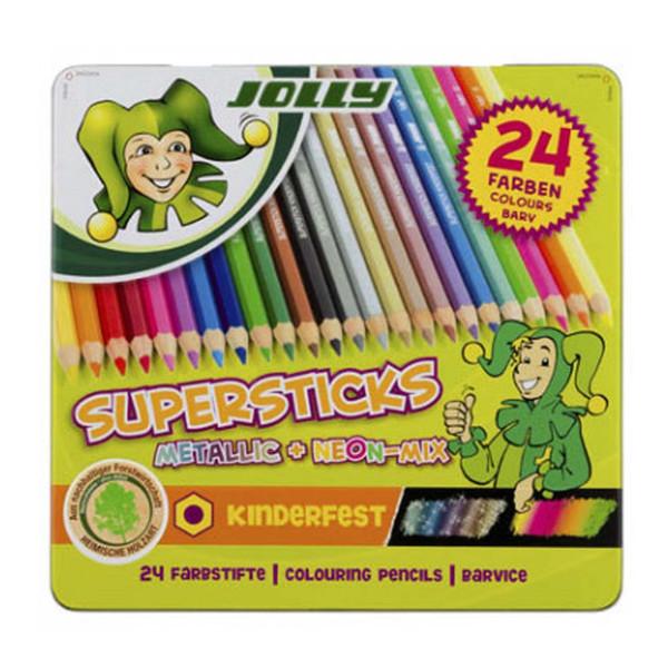 مداد رنگی 24 رنگ جولی 0449-3000