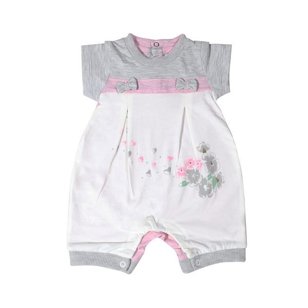 لباس نوزادی دخترانه  زیر دکمه دار مدل 2573