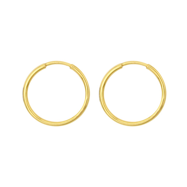 گوشواره طلا 18 عیار زنانه کاپانی مدل حلقه ای کد KE013