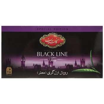 چای سیاه کیسه ای گلستان رویال ارل گری  پک 25 عددی