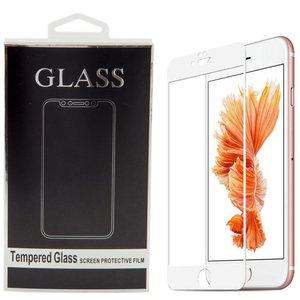 محافظ صفحه نمایش تمام چسب شیشه ای مدل 5D مناسب برای گوشی اپل آیفون 6/6s