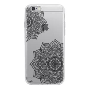 کاور ژله ای وینا مدل Black Flower Mandala  مناسب برای گوشی موبایل آیفون 6/6s