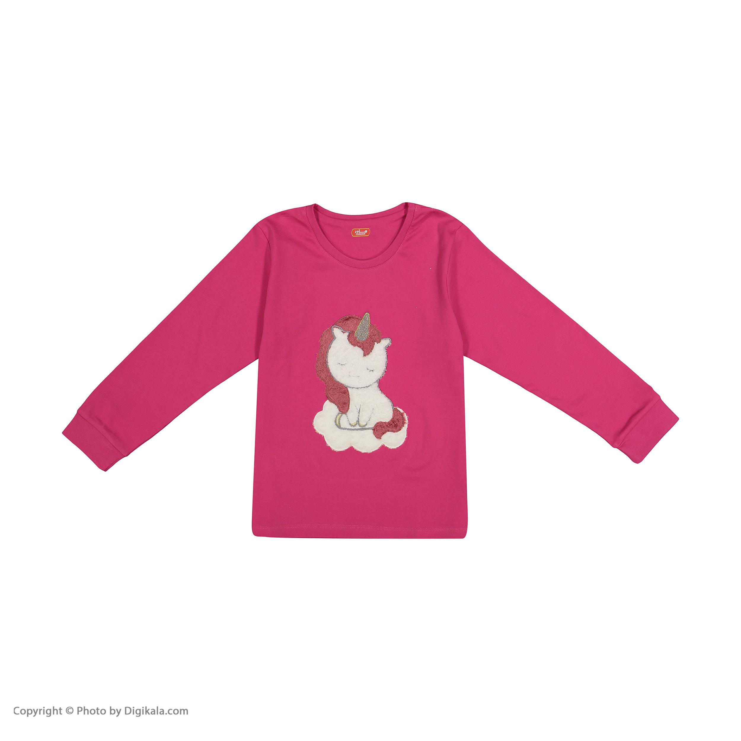 ست تی شرت و شلوار دخترانه مادر مدل 303-66 main 1 2