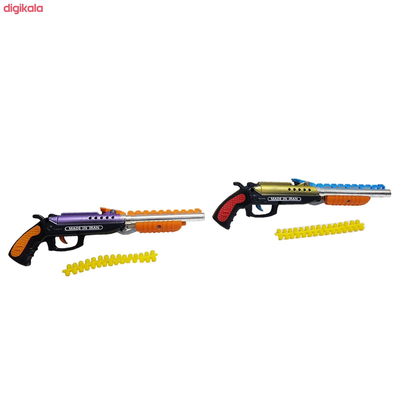 تفنگ بازی مدل وینچستر دولول main 1 2