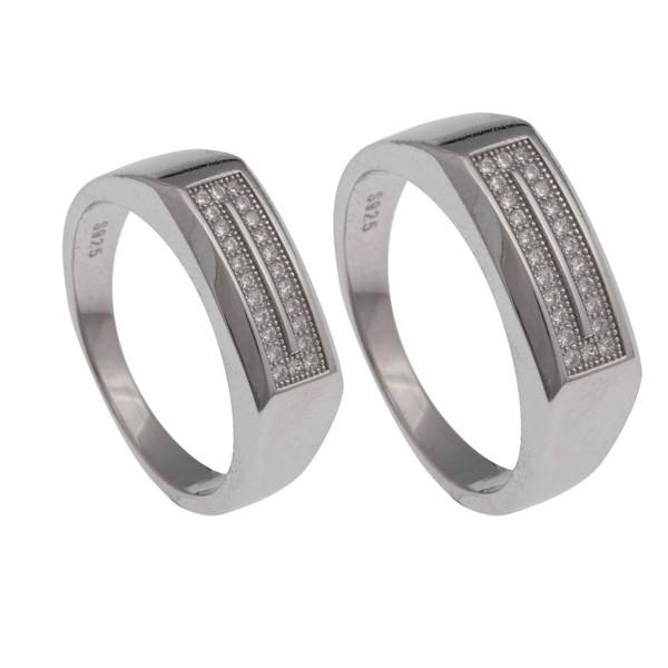 ست انگشتر نقره زنانه و مردانه کد 2434