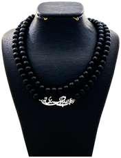گردنبند نقره زنانه دلی جم طرح عجب حلوای قندی تو کد D 59 -  - 1