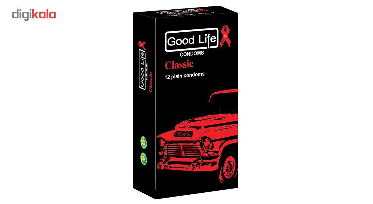 کاندوم گودلایف مدل کلاسیک classic  بسته 12 عددی main 1 1
