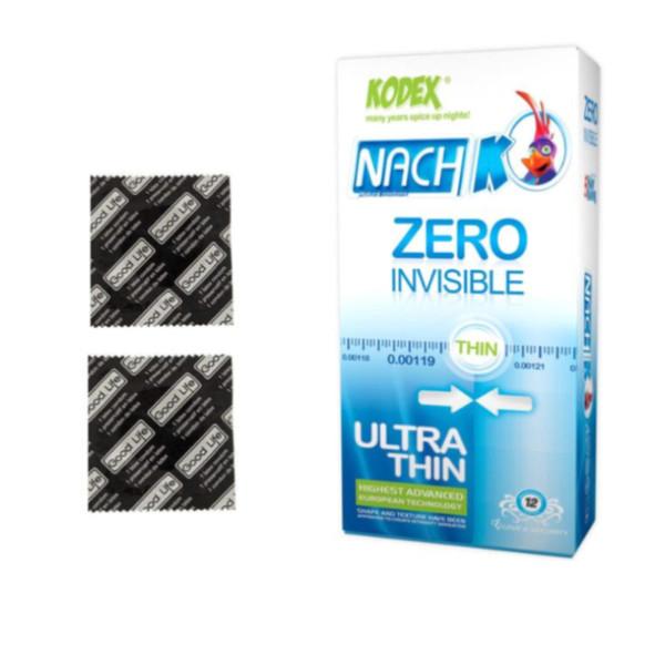 کاندوم گودلایف مدل Super  Delay بسته 2 عددی به همراه کاندوم ناچ کدکس مدل Zero بسته 10 عددی