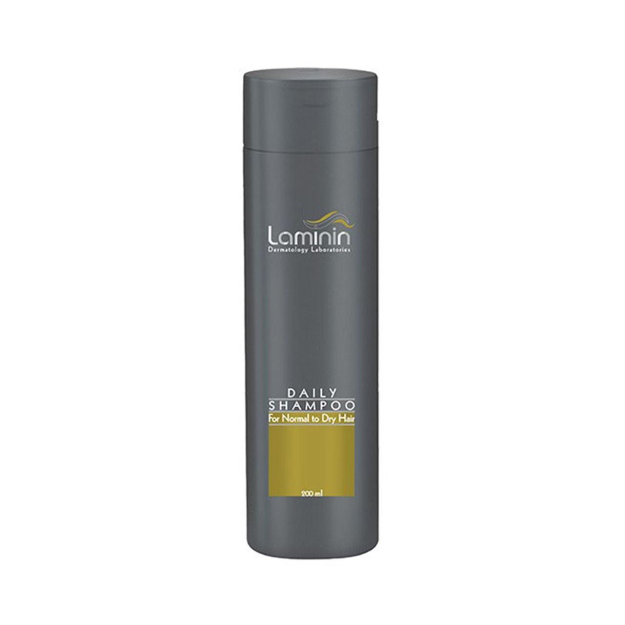 قیمت شامپو روزانه لامینین مناسب موهای معمولی و خشک حجم 200 میلی لیتر