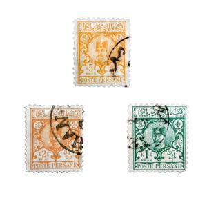 تمبر یادگاری طرح قاجار مدل ناصری کد meh-55 مجموعه 3 عددی