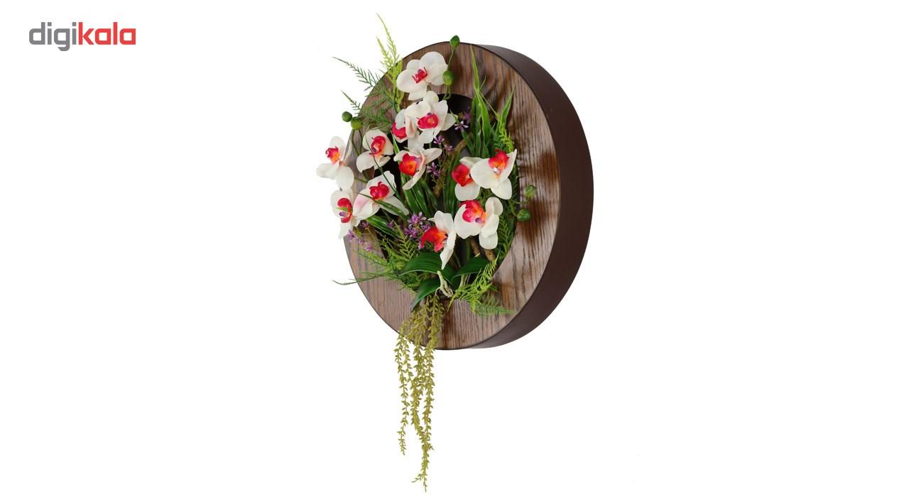 تابلو گل مصنوعی هومز طرح ارکیده مدل 33580