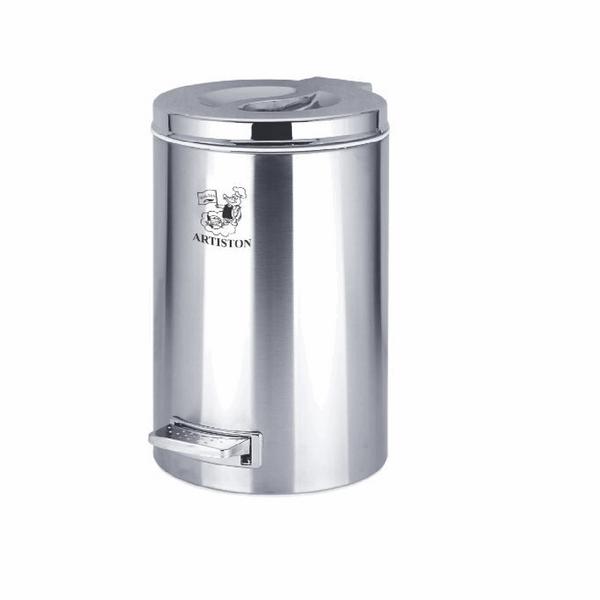 سطل زباله پدالی استیل  آرتیستون صنعت کد 009 گنجایش 12 لیتری
