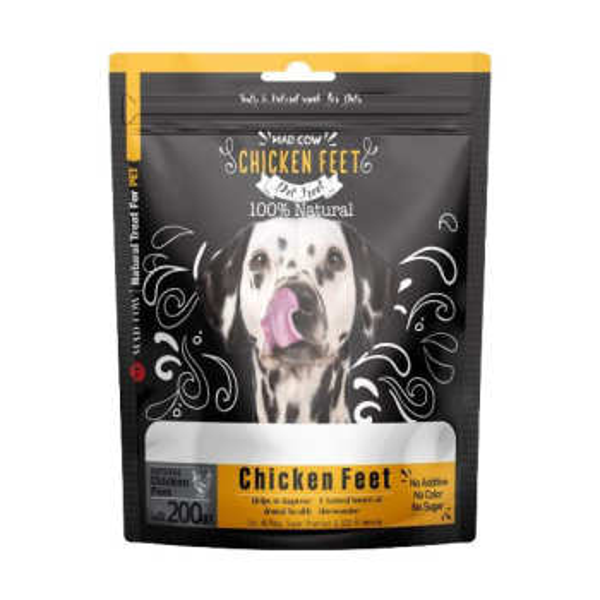 غذای تشویقی سگ مدکاو مدل premium chicken feet وزن 200 گرم