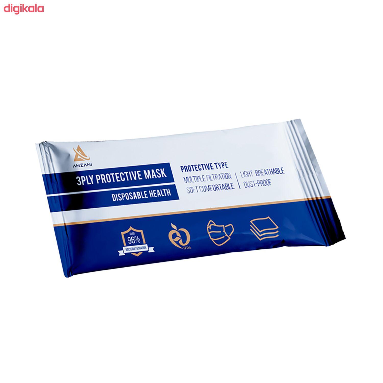 ماسک تنفسی انزانی مدل Fnd01 بسته 10 عددی main 1 2