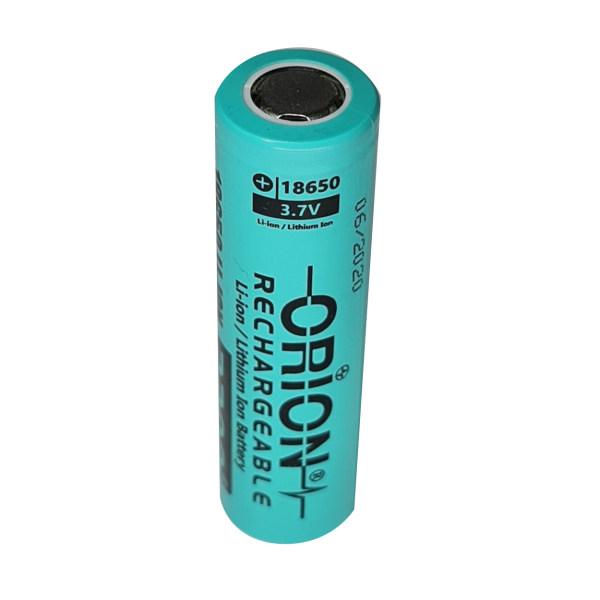 باتری لیتیوم یون قابل شارژ اوریون کد 18650 ظرفیت 2200 میلی آمپرساعت