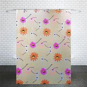 پرده حمام مدل گل سایز 180× 200 سانتی متر