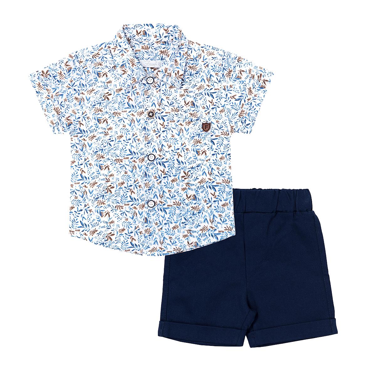 ست تی شرت و شلوارک نوزادی فیورلا مدل 21049