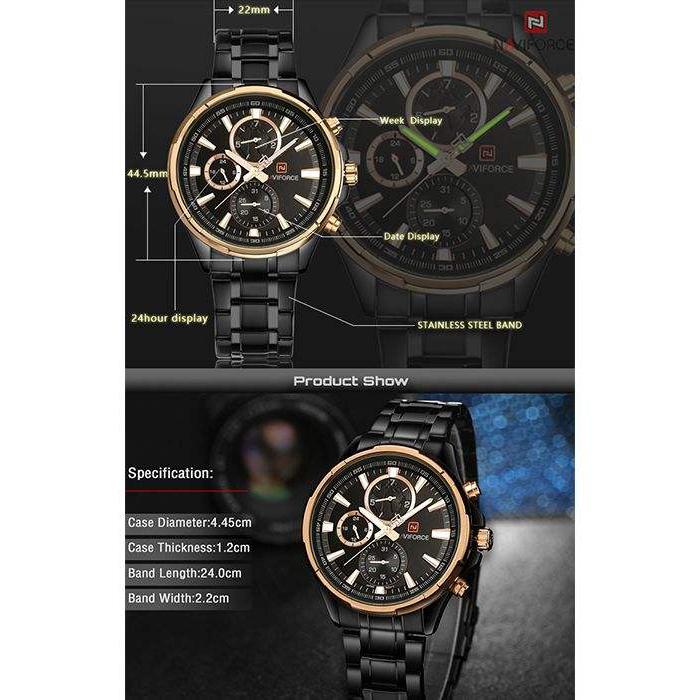 ساعت مچی  مردانه نیوی فورس مدل NF9089M RG              اصل