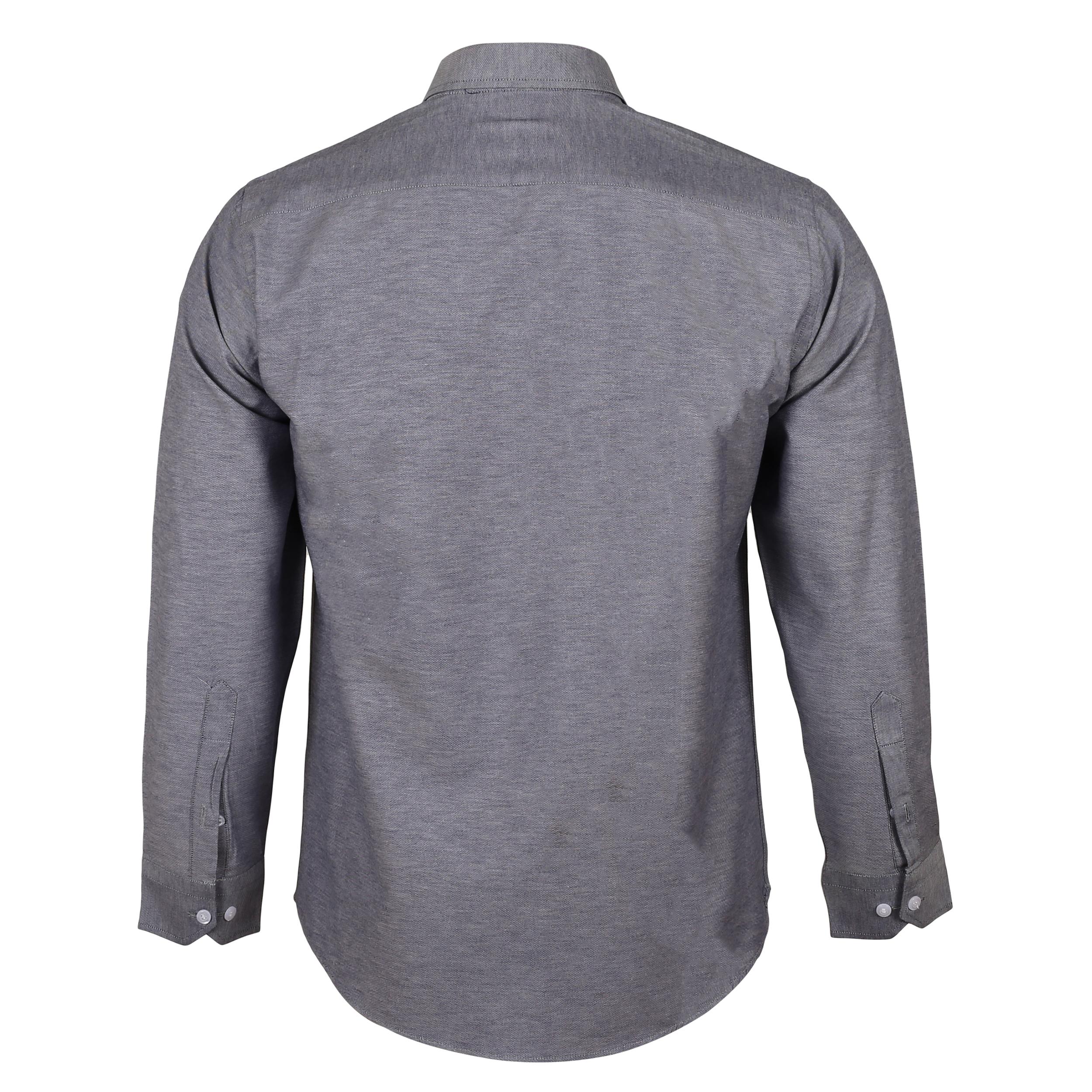 پیراهن آستین بلند مردانه ناوالس مدل NOx8020-GY main 1 2