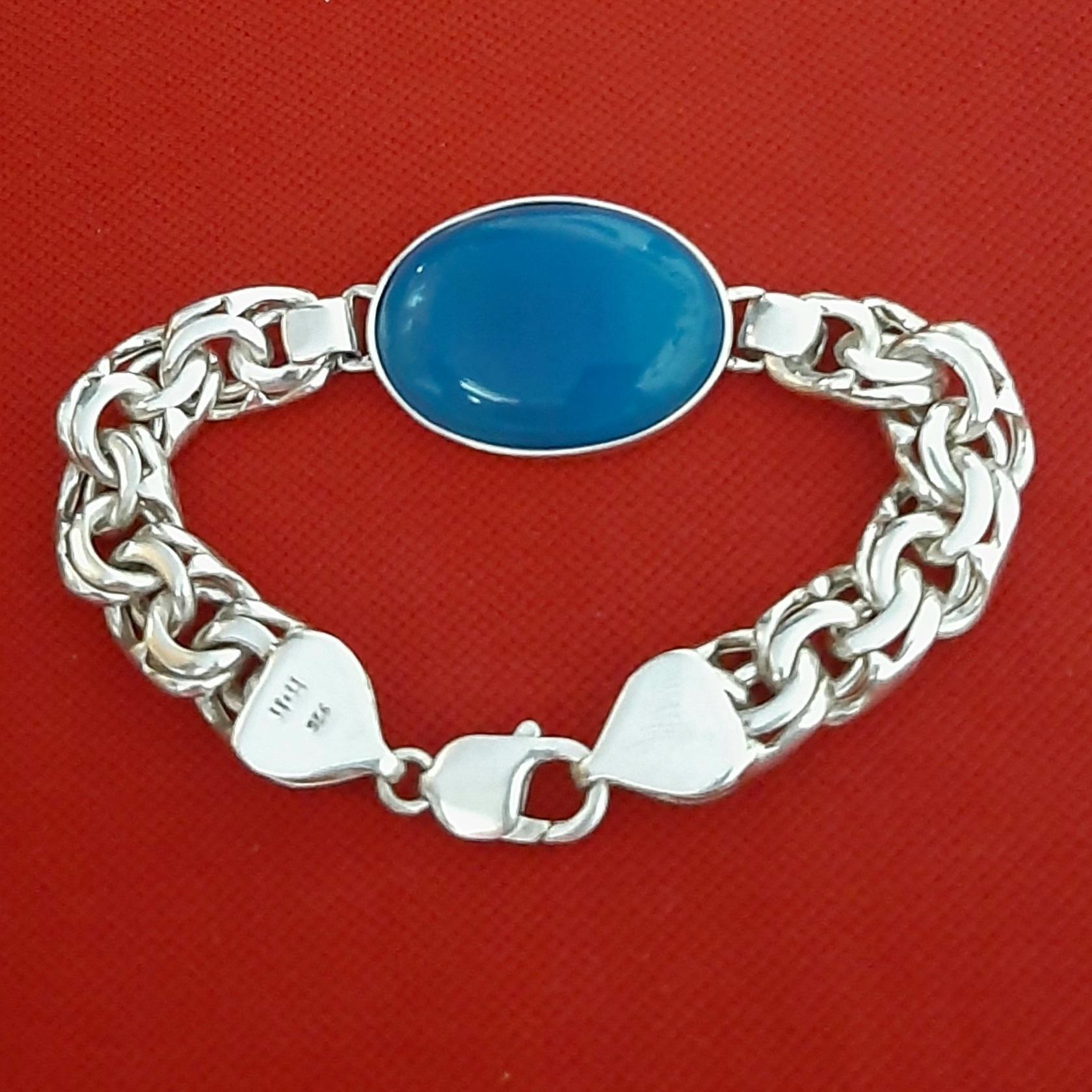 دستبند نقرهمردانه کد HS389