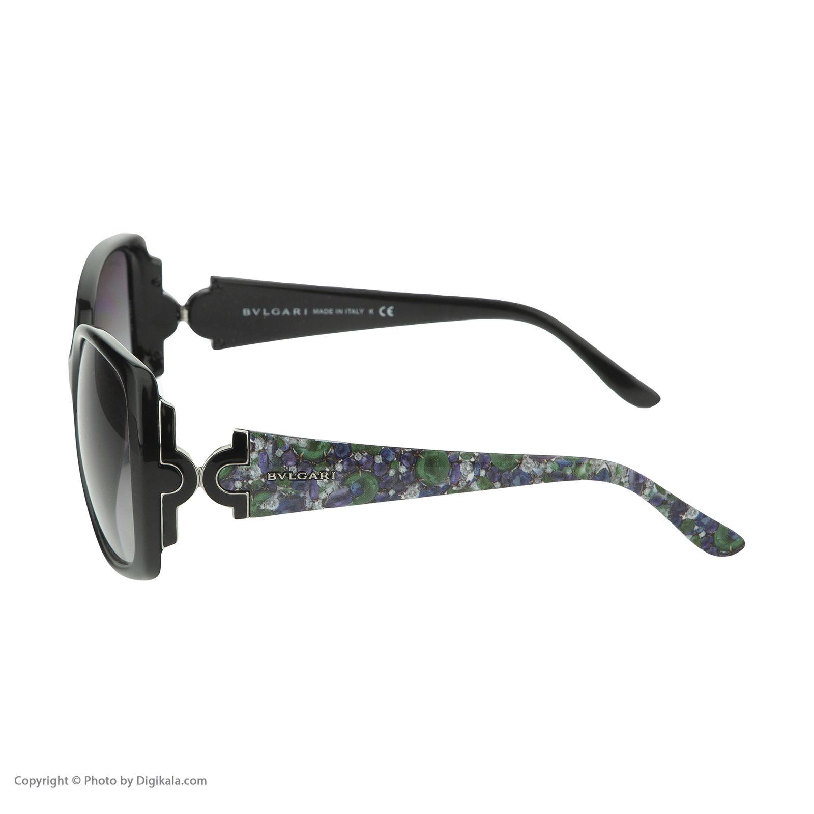 عینک آفتابی زنانه بولگاری مدل BV8078S 90111 -  - 5