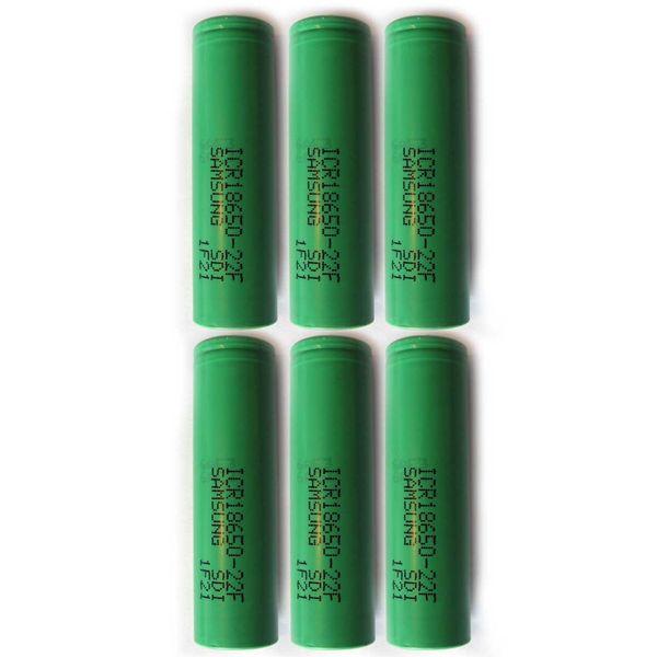 باتری لیتیم یون سامسونگ قابل شارژ مدلICR18650-22F ظرفیت 2200 میلی آمپر بسته 6 تایی