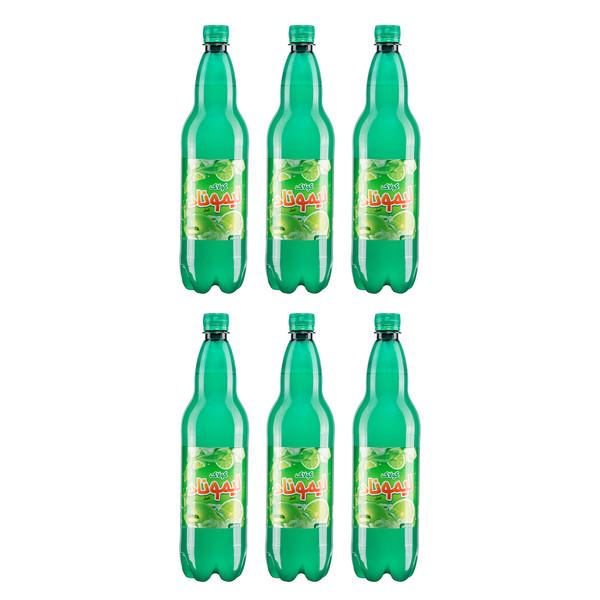 نوشابه لیموناد گازدار کولاک - 1 لیتر بسته 6 عددی